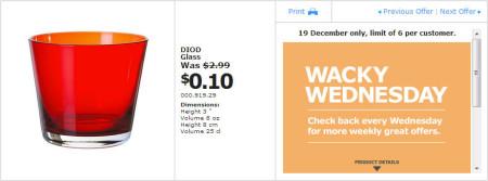 IKEA - Calgary Wacky Wednesday Deal of the Day (Dec 19)