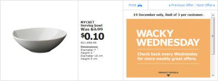 IKEA - Calgary Wacky Wednesday Deal of the Day (Dec 19) B
