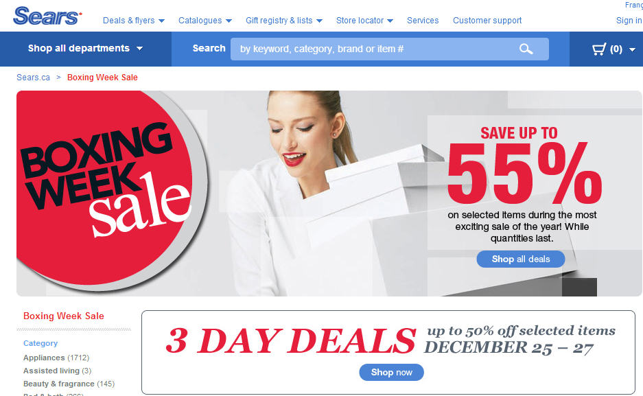 Sears Deal of the Day! Subscribe to get a hot new offer everyday! Sears Deal of the Day! Subscribe to get a hot new offer everyday! Private User added this to Shop Your Way from: interactivebest.ml a few years ago (?) (1 Ratings) More. Help Me Choose Recommend to a friend Report This.