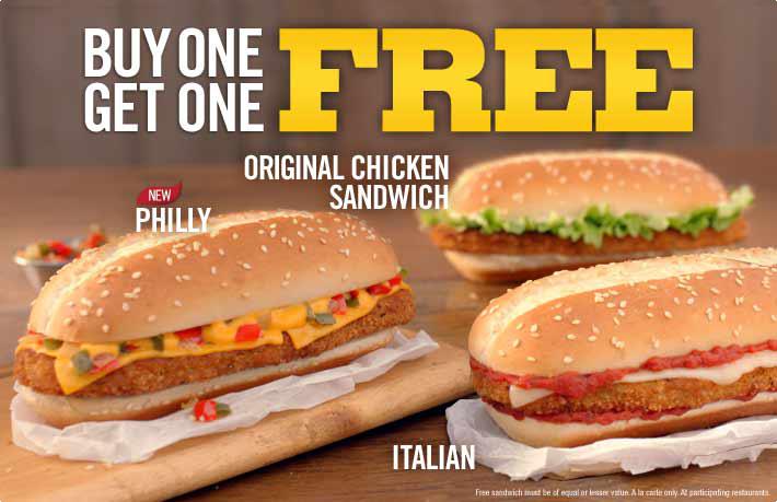 Burger King Buy One Chicken Sandwich, Get One Free (Until Feb 17)