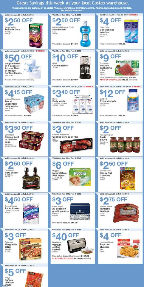 Costco Weekly Handout Instant Savings Coupons WEST (Jan 28-Feb 3)