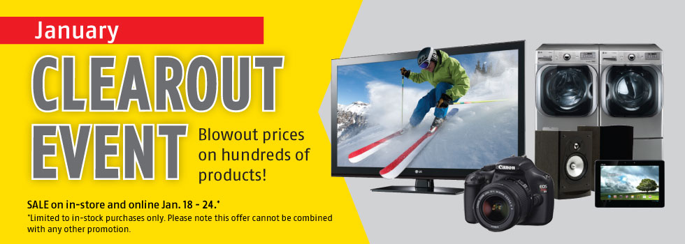 Future Shop January Clearout Event Extended- Blowout Prices on Hundreds of Products (Jan 18-24)