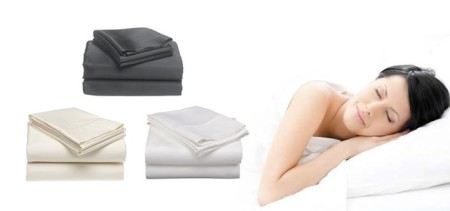 HOT DEAL TeamBuy Products - $49 for a 6-Piece Negative Ion Bamboo Sheet Set - 2 Sizes and 3 Colours Available