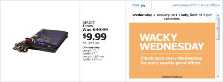 IKEA - Calgary Wacky Wednesday Deal of the Day (Jan 2)