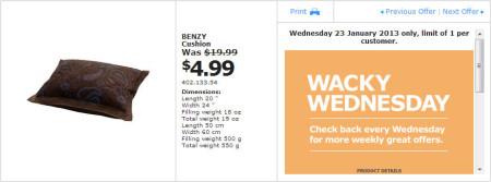 IKEA - Calgary Wacky Wednesday Deal of the Day (Jan 23) B