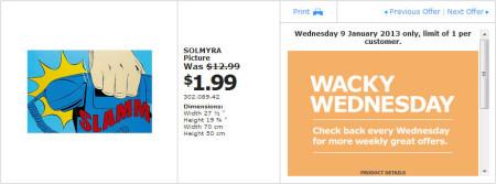 IKEA - Calgary Wacky Wednesday Deal of the Day (Jan 9) A