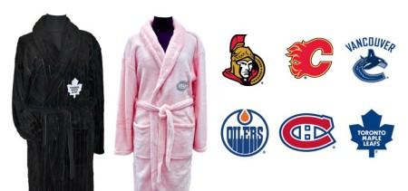 Plush NHL Bathrobe in Black OR Pink
