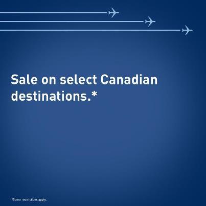 WestJet Sale on Select Canadian Destinations (Book by Jan 27)