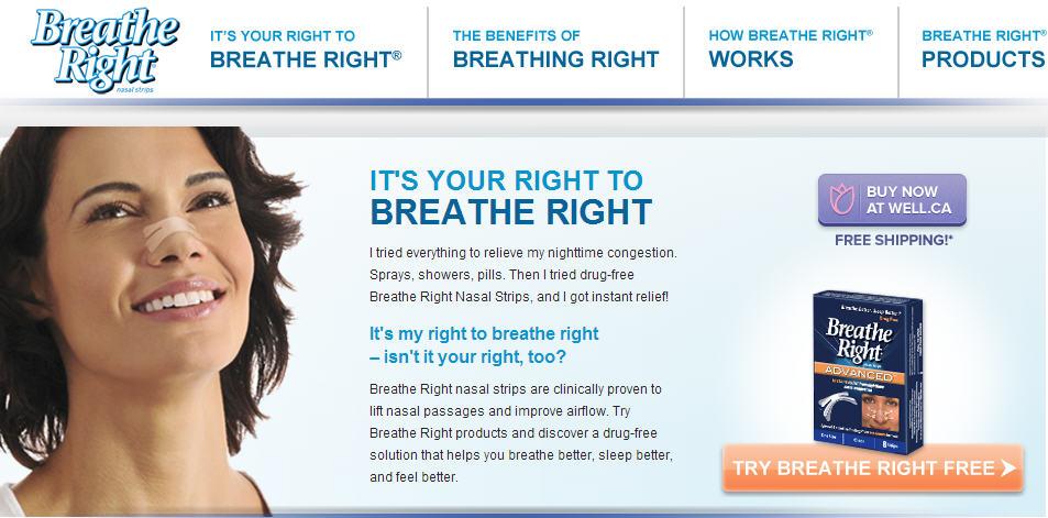 Breathe Right 2 FREE Breathe Right Nasal Strip Samples
