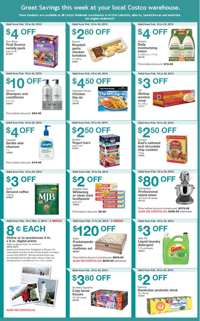 Costco Weekly Handout Instant Savings Coupons (Feb 18-24)
