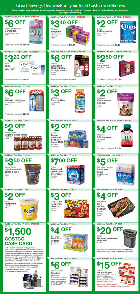Costco Weekly Handout Instant Savings Coupons WEST (Feb 11-17)