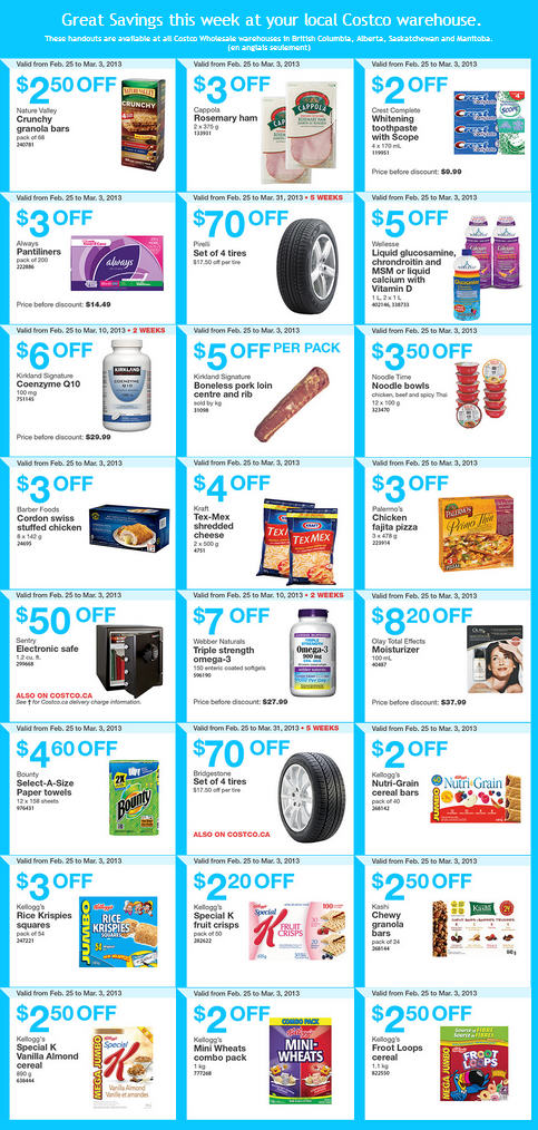Costco Weekly Handout Instant Savings Coupons WEST (Feb 25 - Mar 3)