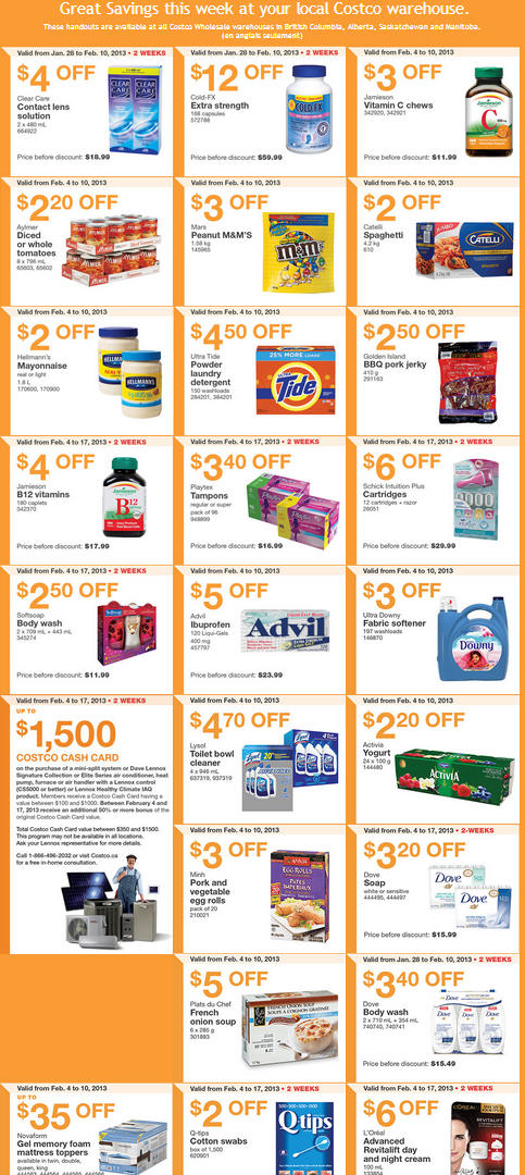Costco Weekly Handout Instant Savings Coupons WEST (Feb 4-10)