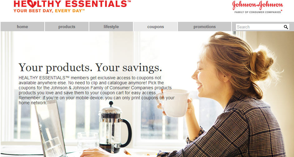 Healthy Essentials Lots of Johnson & Johnson Printable Coupons