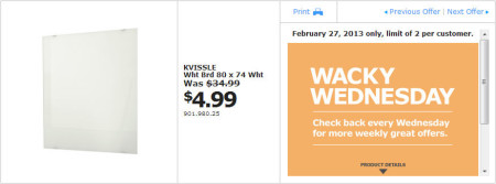IKEA - Calgary Wacky Wednesday Deal of the Day (Feb 27) A
