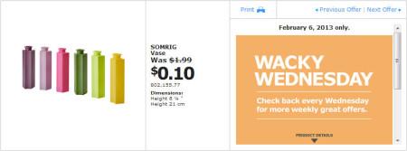 IKEA - Calgary Wacky Wednesday Deal of the Day (Feb 6) B