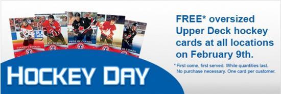 London Drugs FREE Upper Deck Hockey Cards (Feb 9)
