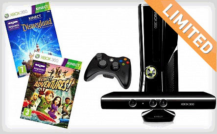 WagJag $199 for the Xbox 360 4GB Console with Kinect and 2 Games