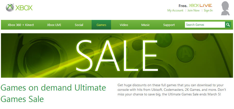 Xbox Live Ultimate Games Sale (Until Mar 5)