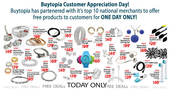 Buytopia Free Deal Day! Get 20+ Deals for Free (March 6 Only)