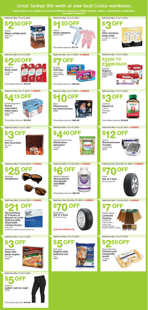Costco Weekly Handout Instant Savings Coupons (Mar 11-17)
