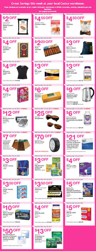 Costco Weekly Handout Instant Savings Coupons WEST (Mar 18-24)