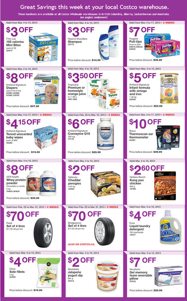 Costco Weekly Handout Instant Savings Coupons WEST (Mar 4-10)
