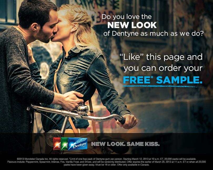 Dentyne Canada FREE Pack of Gum Sample!
