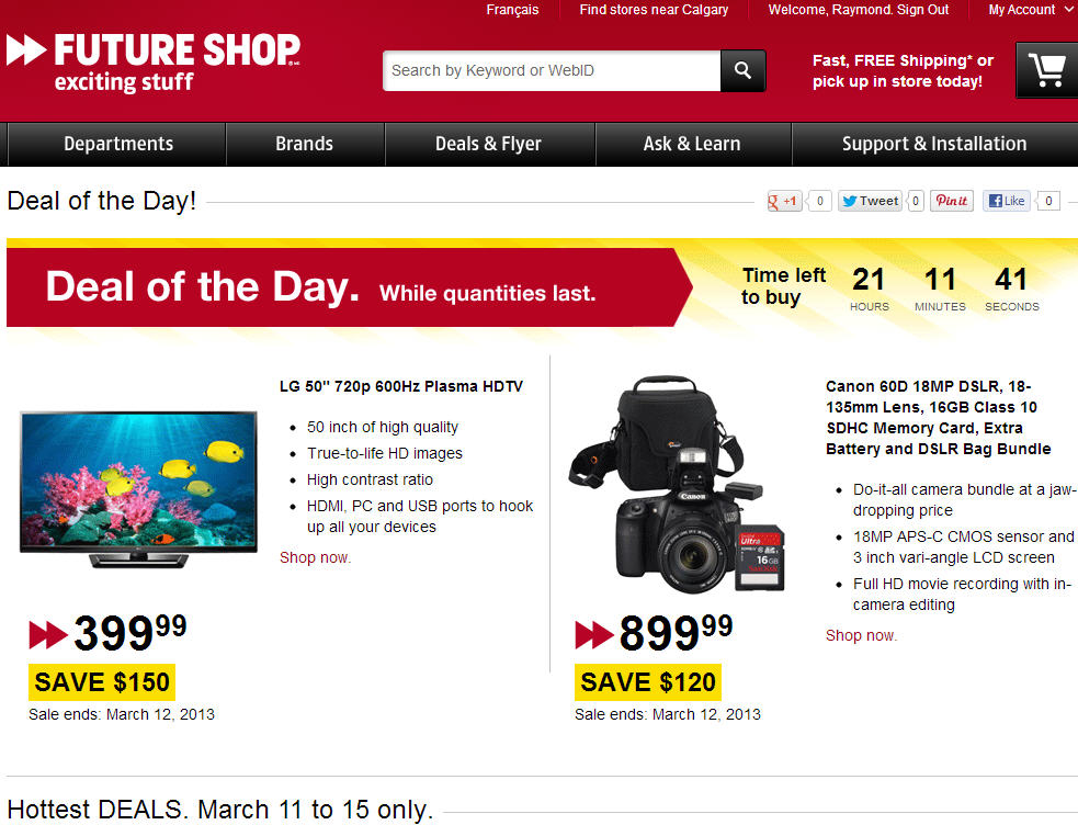 Future Shop Deal of the Day (March 11-15)