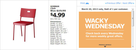IKEA - Calgary Wacky Wednesday Deal of the Day (March 20) B