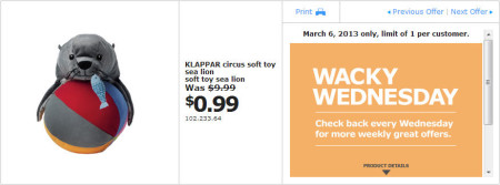 IKEA - Calgary Wacky Wednesday Deal of the Day (March 6) A