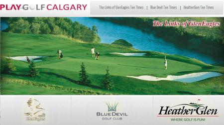 Play Golf Calgary Triple Play Green Fee Card - Save 10-35 at GlenEagles, Blue Devil, HeatherGlen