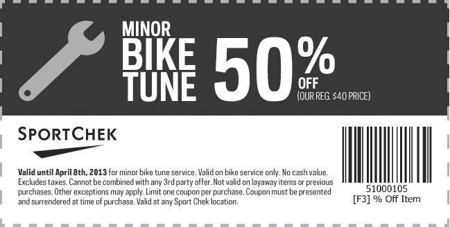Sport Chek 50 Off Minor Bike Tune Coupon (Until Apr 8)