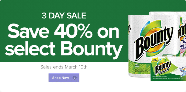 Well Save 40 Off Select Bounty