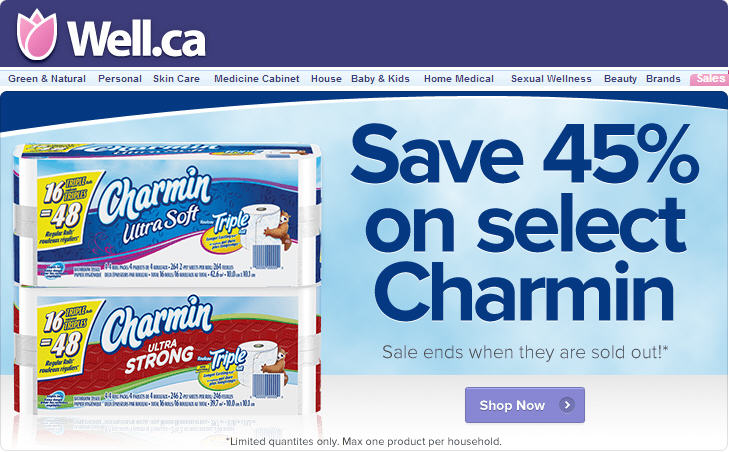 Well Save 45 Off Select Charmin