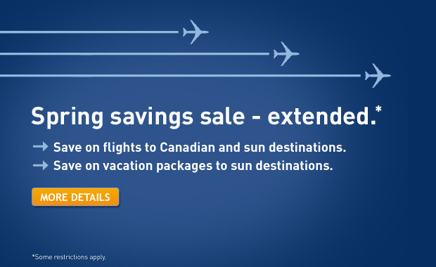 WestJet Spring Savings Sale Extended