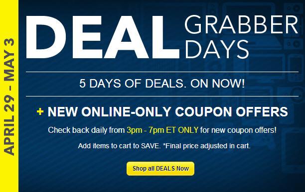 Best Buy Deal Grabber Days - 5 Days of Online Deals (Apr 29-May 3)