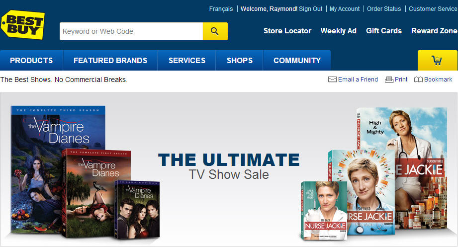 Best Buy The Ultimate TV Show Sale