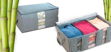 Breathable Bamboo Charcoal Fiber Clothes Organizer