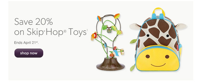 Chapters Indigo 20 Off Skip Hop Toys + Free Shipping (Until Apr 21)