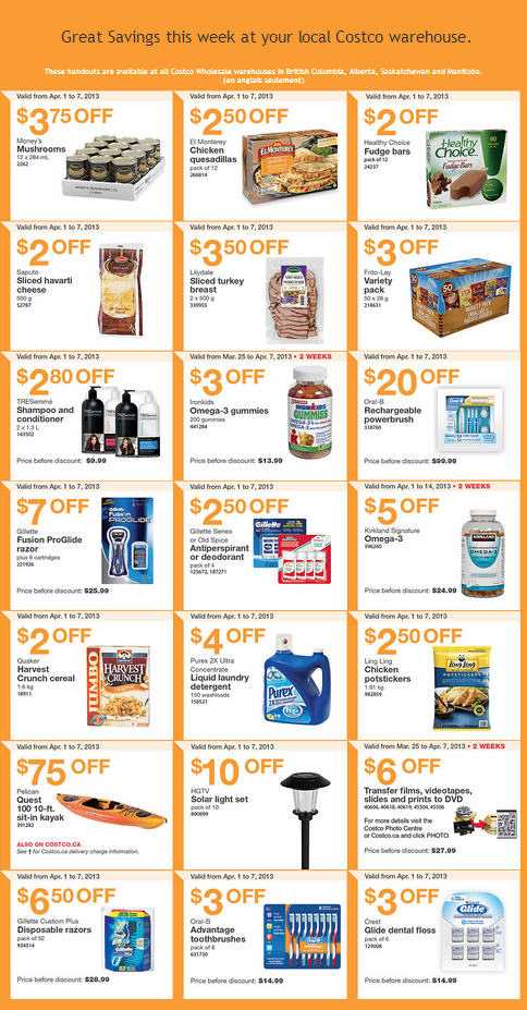 Costco Weekly Handout Instant Savings Coupons WEST (Apr 1-7)
