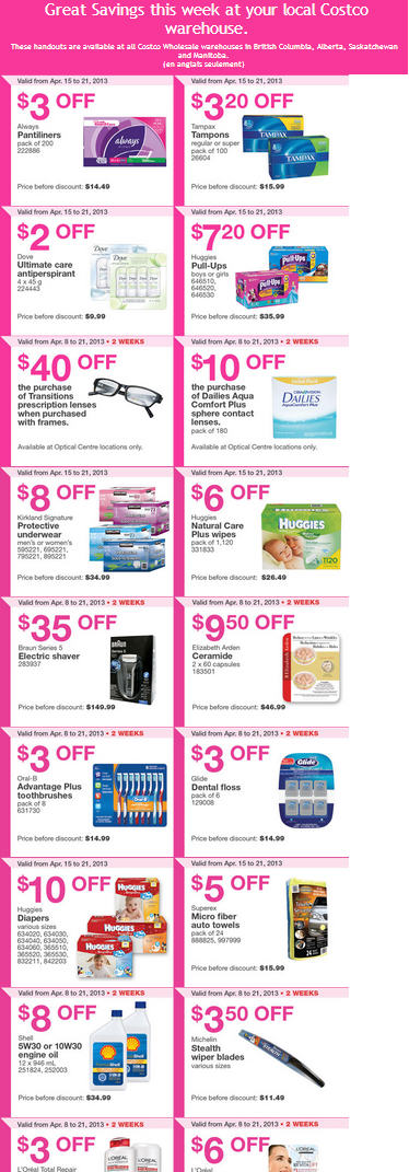 Costco Weekly Handout Instant Savings Coupons WEST (Apr 15-21)