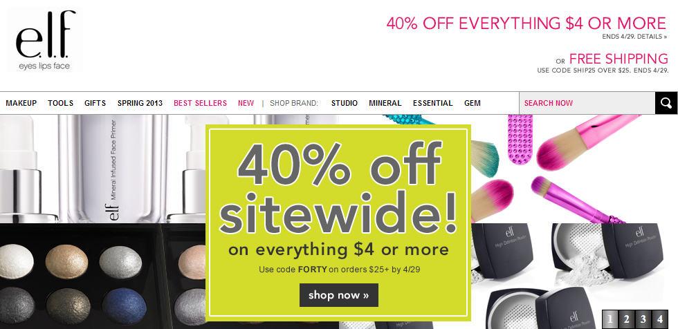 ELF Cosmetics 40 Off Sitewide (Apr 24-29)