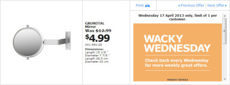 IKEA - Calgary Wacky Wednesday Deal of the Day (April 17) B