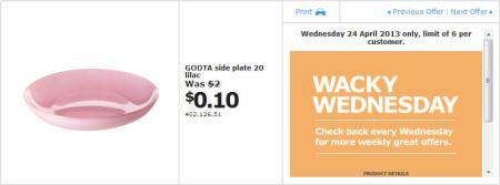 IKEA - Calgary Wacky Wednesday Deal of the Day (April 24) C