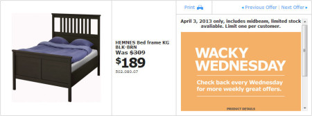 IKEA - Calgary Wacky Wednesday Deal of the Day (April 3) A