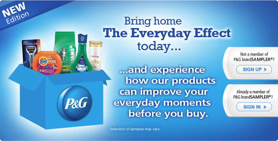 P&G brandSAMPLER FREE Product Samples