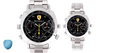 Stainless Steel Spy Camera Watch