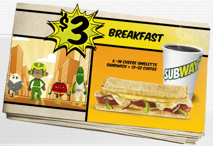 Subway $3 Breakfast Sale