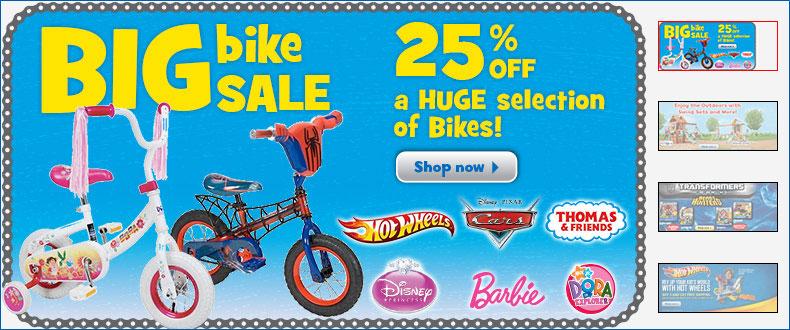 Toys R Us Big Bike Sale - 25 Off Bikes